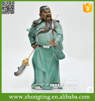 Best modern home interior decorative religious craft ceramic guan gong statue