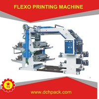 Four Color Plastic Poly Bag Flexo Printing Machine Price