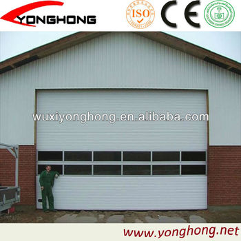sectional garage door with full vision section