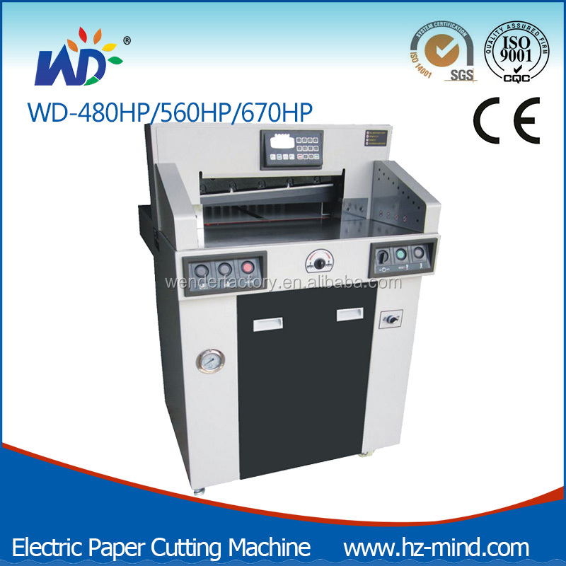 Professional Manufacturer Heavy duty high speed Program-control Programmble Hydraulic Paper Cutting Machine