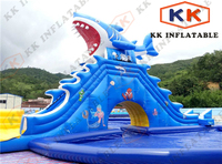 Shark theme inflatbale water slide, inflatable suppier