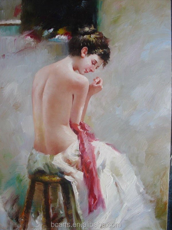 Impressional beauty hot hot sexi nude photo woman oil painting