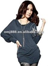 Latest ladies fashion new directions clothing for women cotton blouse