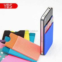New style custom colorful Factory Eco-friendly elastic cell phone accessories 3m sticker phone pocket for iphone
