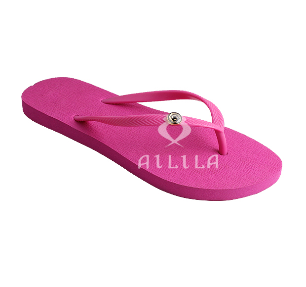 Bright solid color thong flip flops