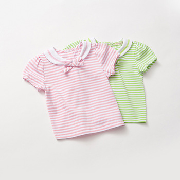 MS75414B 2017 hot selling kids t-shirts cheap striped t-shirts