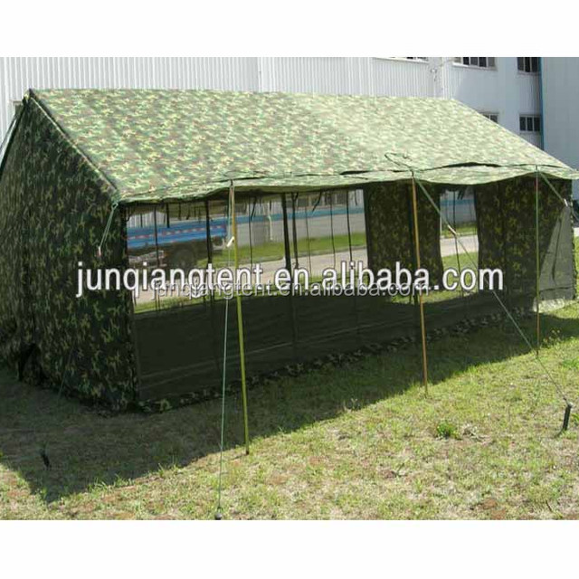 20 man large camouflage waterproof heavy duty canvas dinning tent for military or student summer camp with awning pole