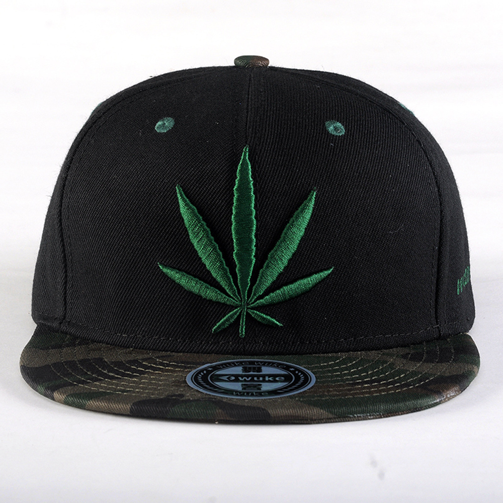 oem 6 panel snapback plain hats wholesale/custom 3d embroidery hat with digital printed brim/cheap gorras