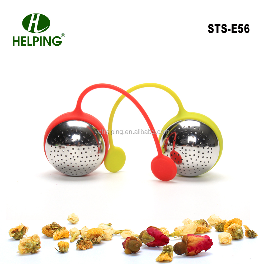 silicone ball shape tea strainer stainless steel metal ball tea infusers