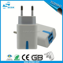 Smart led disply travel accessories portable multiple usb home wall charger 8port 5v/2.1