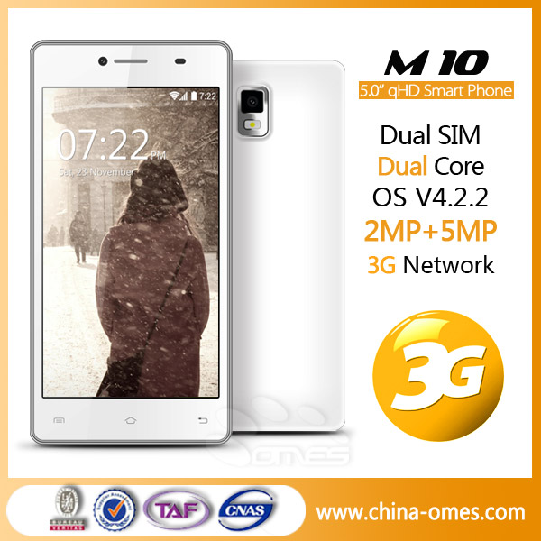 Good Spec 5MP Camera OMES <strong>M10</strong> 3G 5inch QHD IPS MTK 6572 5 inch dual core <strong>android</strong> cellphone