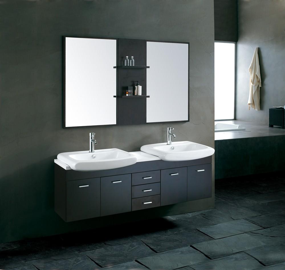 crw schwarz benutzerdefinierte bad doppelwaschbecken eitelkeit, Hause ideen