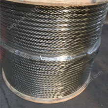304 316 316L galvanized stainless steel wire rope 6x19 7x19 1x19