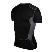 Custom Sublimation Mens Compression Dry Fit Running T Shirt