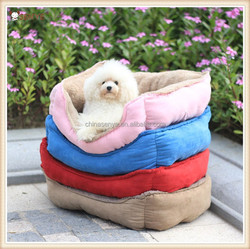 Cheap price warm dog bed comfortable and soft plush dog bed indoor dog house bed round dog bed