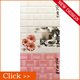 200x300mm 3d Inkjet Printing Bathroom Wall Digital Ceramic Tile Pink Color
