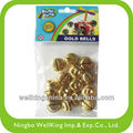 15pcs Mini Gold Jingle Bells