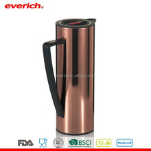 1L double wall Inner glass outside 18 8 stainless steel vacuum flask coffee pot