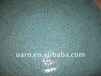 Autoclaw pattern combinate glass mosaic table top