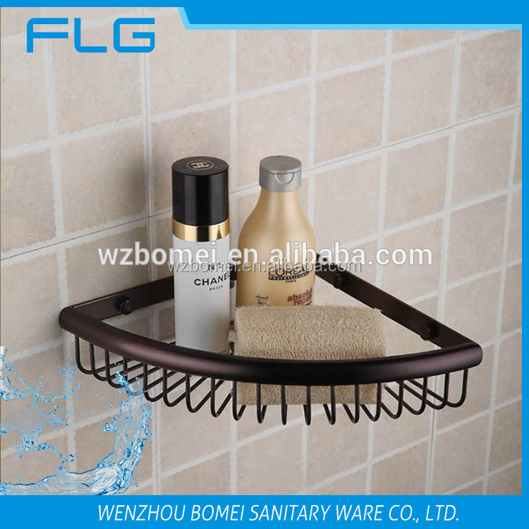 Brass Wire Corner Shelf Bracket Shelves Basket Bathroom Accessories