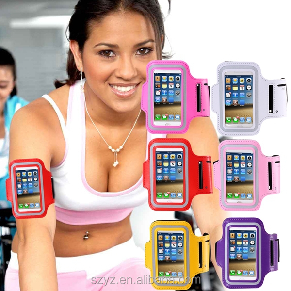 wholesale and retail Sweat-proof Neoprene Sports Armband for Iphone 4 4s 5 5s 5c Ipod Touch 5-10 colors