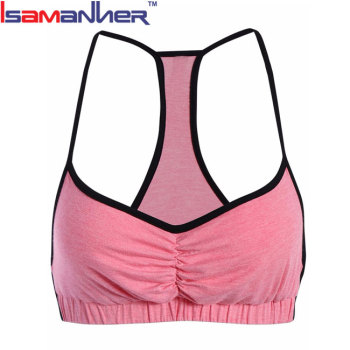 Hot selling design your own wholesale padded sports bra yoga