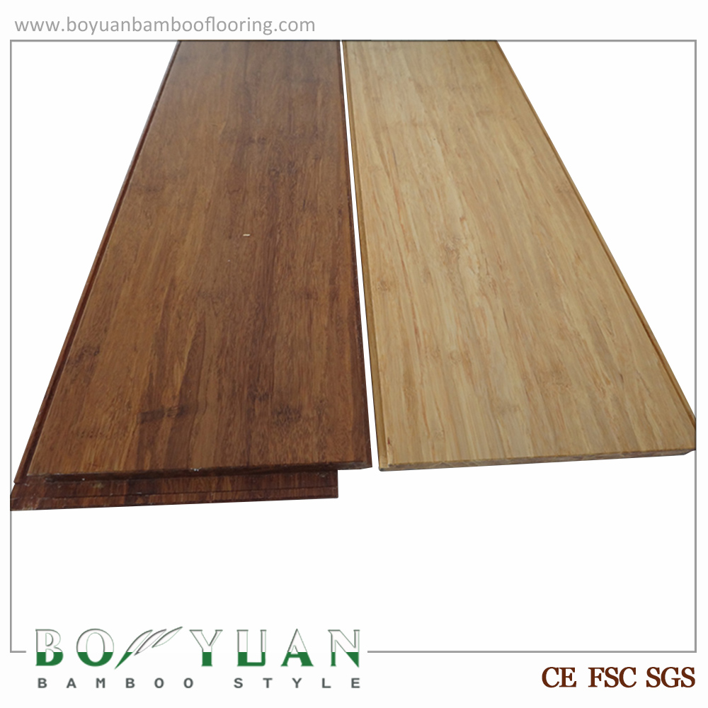 Carbonized Bamboo Floor Click Lock Solid Bamboo Timber Flooring