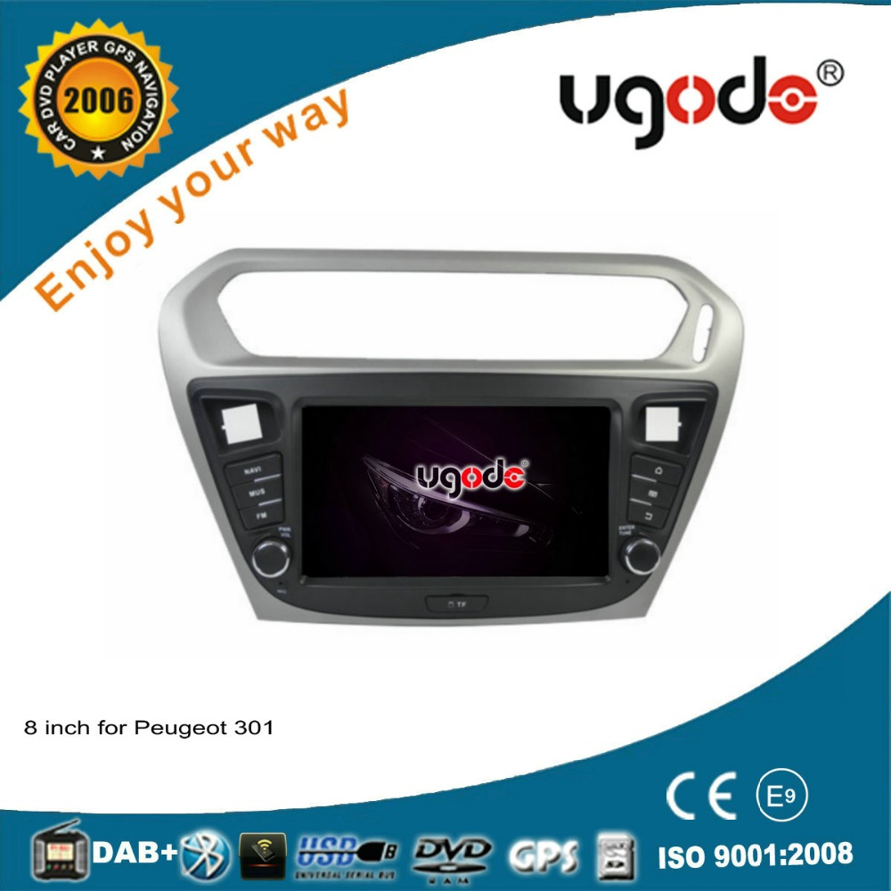 ugode android 4.4/6.0 8inch 2 din auto radio gps navigation for Citroen C-elysee/Peugeot 301