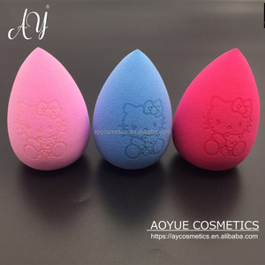AY new arrival makeup sponge with hello kitty pattern,makeup blender,sponge makeup puff