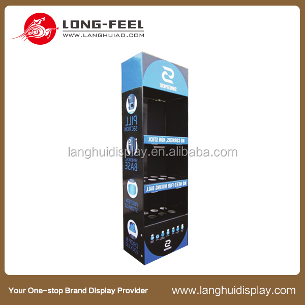 paperboard dangler store display Hot sale color printed flooring retail carton display counter floor corrugated display