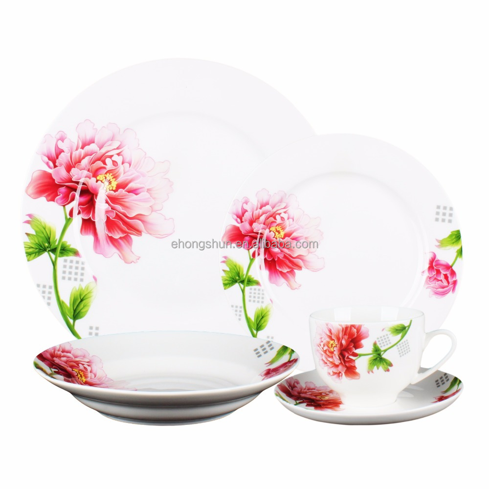 American style porcelain tableware cut decal new year dinner set