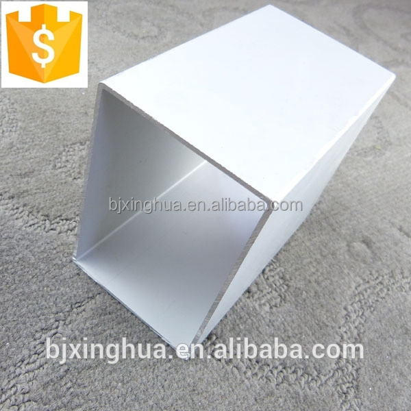 Powder Coated Aluminum Pipe : Aging resistance alimun alloy tubing white powder