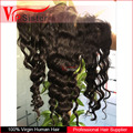 Vipsister Hair raw hair 13*6 lace frontal pre plucked frontal piece water wave with lace frontal