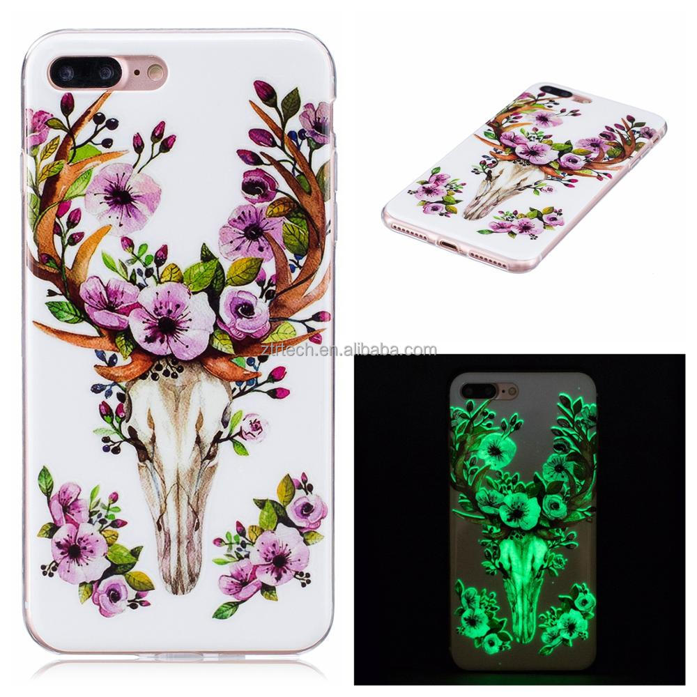 New Night Glow Animal Design Case Embossed Handpainting Cover Light In Dark Mobile Phone Cases For iPhone 5/5s/SE 6/6s 6/6s plus