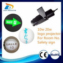 Wholesale cheap cost LED 10w gobo projector for company logo and safety sign