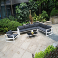 China wholesale outdoor furniture patio aluminum garden corner sofa set