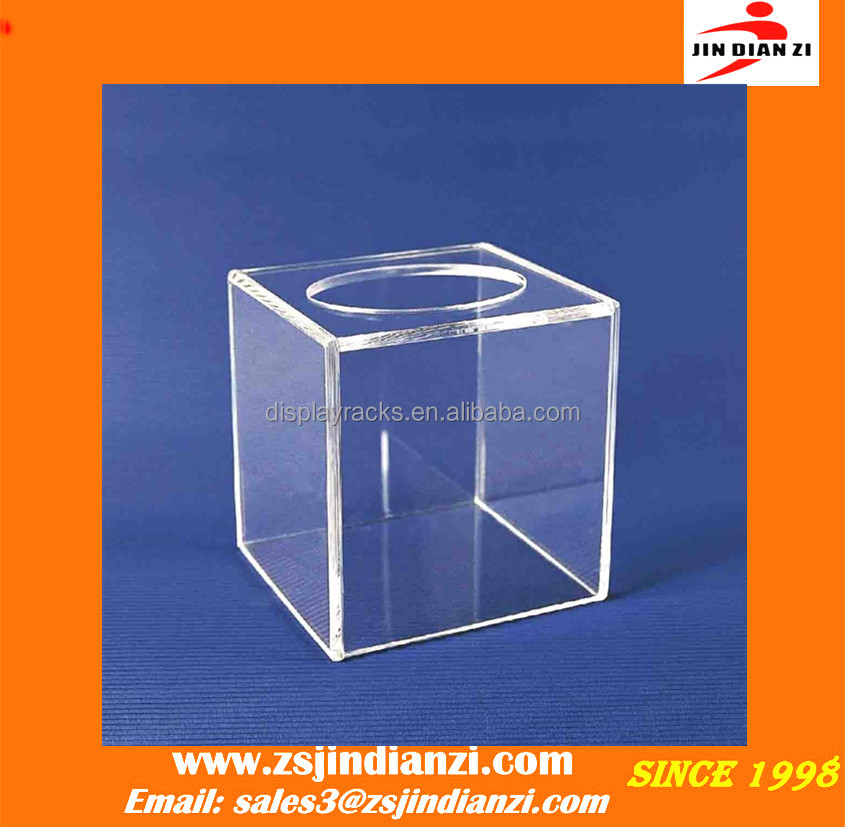 clear acrylic box with holes, acrylic lucky draw box, clear acrylic letter suggestion donation money coin box