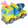 Colorful kids wooden science truck toys for wholesale W04A121