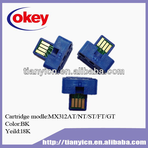 MX 312 for Sharp Reset Toner Chips