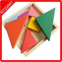Colorful wooden puzzle Square Tangram