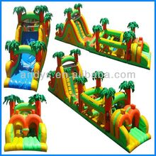 obstacle course,world biggest obstacle course inflatable for adult and kids