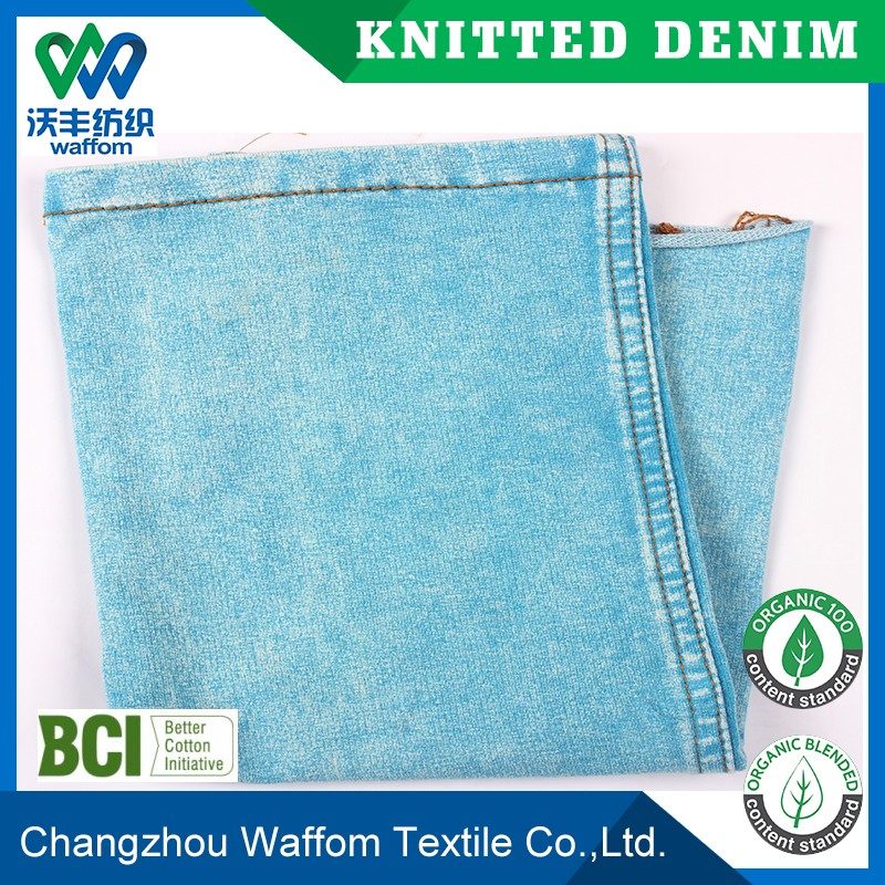 white yarn knitting denim terry fabric plain dyed color