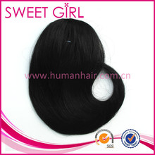 Wholesale hairpiece fringe hair bangs human hair extensions for black women