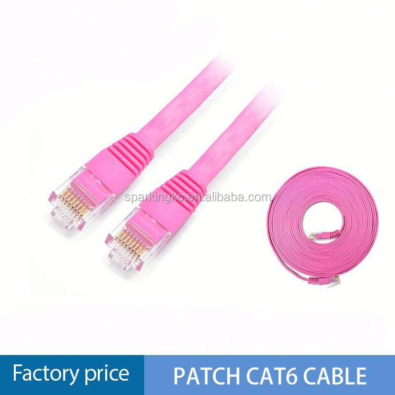 Networking extension cable customized length yellow/blue/black color 24awg stranded cat6 patch cord computer cables
