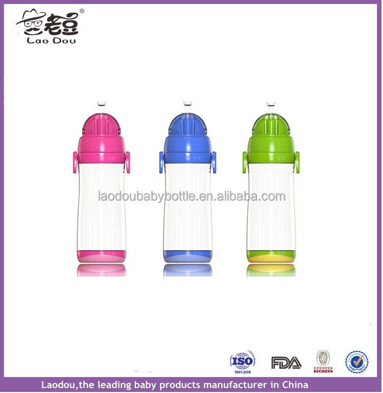 500ml pp silicone portable baby training cup
