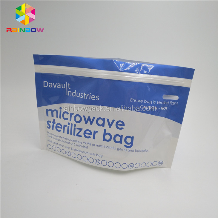 Steam Cleans Microwave Steriliser Bags / Pouch for Feeding Accessories destroys harmful germs and bacteria