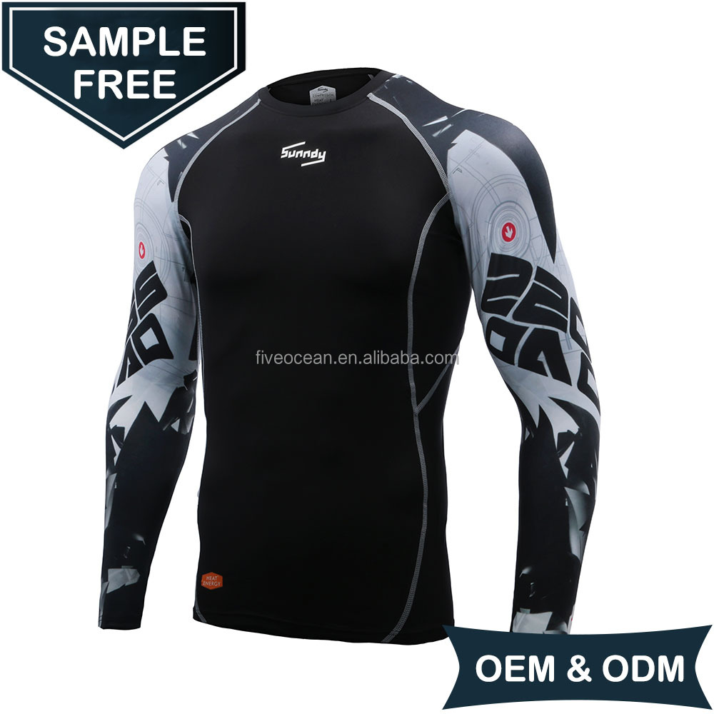 OEM/ODM Wholesale Mens Long Sleeve Breathable Quick Dry Customized Compression Shirt