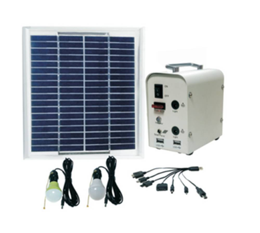 Solar Energy Systems Home Lighting System With Generator And 2 Pcs ...
