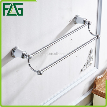 New design sliver plating double towel bar holders
