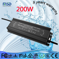 waterproof electronic led driver 200w, 3a 200w christmas tree adapter